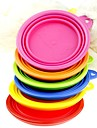 Cat Dog Bowls & Water Bottles Pet Bowls & Feeding Foldable Yellow Red Green Blue Pink