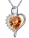Women\'s Pendant Necklaces Jewelry Heart Chrome Cute Style Jewelry For Special Occasion Gift
