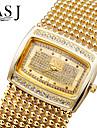 ASJ Women's Fashion Watch Bracelet Watch Simulated Diamond Watch Pave Watch Japanese Quartz Imitation Diamond Rhinestone Copper Band