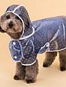 개 레인 코트 강아지 의류 겨울 모든계절/가을 도트 무늬 귀여운 블루 핑크