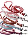 Leash Waterproof Running Solid PU Leather Blue Red Coffee Purple White
