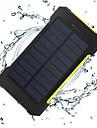 8000mAh Power Bank Внешняя батарея 5V 1.0A 2.0AA Зарядное устройство Подсветка Несколько разъемов Зарядка от солнца Автоматическая