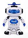 пространство танцевальной музыки инфракрасная игрушка электрический робот вращаться на 360 градусов огни