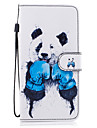 For Samsung Galaxy S8 Plus S8 Case Cover Panda Pattern Painted Card Stent PU Material Phone Case S7 Edge S7 S6 S5