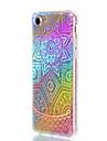 Кейс для Назначение Apple iPhone 7 Plus iPhone 7 Защита от удара Покрытие Полупрозрачный С узором Кейс на заднюю панель Градиент цвета