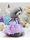 Cachorro Vestidos Roupas para Caes Fofo Casual Fashion Princesa Cinzento Roxo Rosa claro Ocasioes Especiais Para animais de estimacao