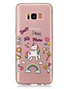 Capinha Para Samsung Galaxy S8 Plus S8 IMD Transparente Estampada Capa traseira Unicornio Macia TPU para S8 Plus S8 S5 Mini S4 Mini