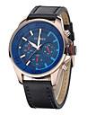 Ανδρικά Μοδάτο Ρολόι Χαλαζίας 30 m Δέρμα Μπάντα Αναλογικό Καθημερινό Μαύρο / Γκρι - Γκρίζο Μπλε