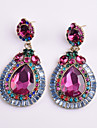 Women\'s Crystal Drop Earrings - Crystal Flower Geometric Fuchsia For Party / Daily / Casual