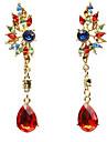 Femme Boucles d\'oreille goutte Mode bijoux de fantaisie Acrylique Resine Alliage Forme Geometrique Bijoux Pour Anniversaire Quotidien