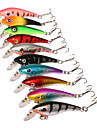 "10 pcs Hard Bait Minnow Fishing Lures Minnow Hard Bait Assorted Colors g/Ounce,57 mm/2-1/4"" inch,Hard PlasticSea Fishing Bait Casting"