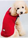 Chien Pull Vetements pour Chien Bande dessinee Bleu de minuit Rouge Soie Coton Costume Pour les animaux domestiques Homme Femme