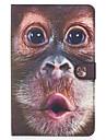 Кейс для Назначение SSamsung Galaxy Бумажник для карт Кошелек со стендом Флип Магнитный С узором Чехол Животное Твердый Кожа PU для Tab E