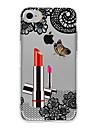 Pour Etuis coque Translucide Coque Arriere Coque A Dentelle Femme Sexy Flexible PUT pour AppleiPhone 7 Plus iPhone 7 iPhone 6s Plus