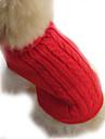 Cachorro Sueters Roupas para Caes Solido Marron Vermelho Azul Ocasioes Especiais Para animais de estimacao