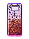 Capinha Para Samsung Galaxy S8 Plus S8 Galvanizado Liquido Flutuante Estampada Capa Traseira Lace Impressao Glitter Brilhante Macia TPU
