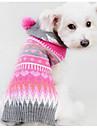 Собака Свитера Одежда для собак геометрический Пурпурный Шелковая ткань Хлопок Костюм Для домашних животных Муж. Жен. На каждый день Мода