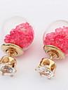 Women\'s Girls\' Stud Earrings Drop Earrings Hoop Earrings Jewelry Basic Circular Unique Design Circle Friendship Hip-Hop Rock Multi-ways