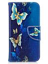 삼성 은하에 대한 j3 j3 (2016) 케이스 커버 버터 플라이 패턴 pu 소재 카드 스텐 트 지갑 휴대 전화 은하 j7 j5 j3