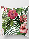 1pcs moda tropical planta sofa almofada pele dura travesseiro capa