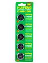hui feng высокое качество литиевая батарея cr2032 батарея кнопки 3v 5pcs