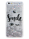 Cas pour apple iphone7 7 plus dessin anime brillant brillance phrase mot fluide liquide motif soft tpu 6s plus 6 plus 6s 6