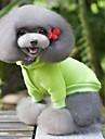Cane Cappottini Felpa Abbigliamento per cani Casual Sportivo Di tendenza Solidi Giallo Rosso Verde Blu Rosa Costume Per animali domestici