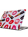 For MacBook Air Pro 11.6 13.3 15.4 inch Retain Case Cover Cartoon Drawing Painting Decorate Protector for New MacBook Lipstick Pattern