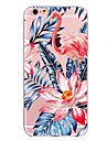Para iPhone X iPhone 8 Case Tampa Transparente Estampada Capa Traseira Capinha Flamingo Flor Macia PUT para Apple iPhone X iPhone 8 Plus