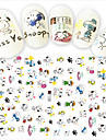 1pcs Fashion Nail Art DIY Beauty Cartoon 3D Stickers Lovely Cartoon Decoration Cute Snoopy Funny Expression Design F108