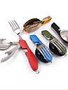 Camping Spork Camping Eating Utensil Set Collapsible Stainless Steel for Camping Picnic Outdoor