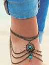בגדי ריקוד נשים תכשיט לקרסול נשים עיצוב מיוחד ארופאי סגנון מינימליסטי אופנתי תכשיט לקרסול תכשיטים כסף / ברונזה עבור יומי קזו'אל