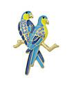 Mulheres Broches - Basico Broche Azul Para Casual