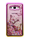 For Samsung Galaxy J5 (2016) J3 (2016) Case Cover Flowing Liquid Pattern Back Cover Case Glitter Shine Butterfly Soft TPU for J3