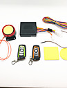 Motorcycle burglar alarm & two-color remote control waterproof