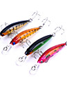 4 pcs Hard Bait Minnow Fishing Lures Lure Packs Minnow Hard Bait Plastics Sea Fishing Bait Casting Spinning Freshwater Fishing Trolling &