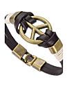 Муж. Кожаные браслеты Бижутерия Природа Мода бижутерия Кожа Сплав Бижутерия Назначение Особые случаи