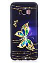 Para samsung galaxy s8 s8 plus capa capa padrao de borboleta pintado sentir tpu caso macio caso do telefone s7 edge s7