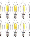 4W E14 LED Filament Bulbs C35 4 COB 350 lm Warm White White 2700-3200 6000-6500 K Decorative AC 220-240 V