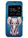 케이스 제품 Samsung Galaxy S8 Plus S8 카드 홀더 스탠드 패턴 풀 바디 카툰 코끼리 하드 인조 가죽 용 S8 S8 Plus S7 edge S7