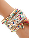 Women\'s Bangles Cuff Bracelet Wrap Bracelet Rock Handmade Multi Layer Costume Jewelry Fashion Bohemian Mixed Materials Resin Mixed