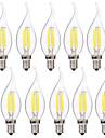 4W E14 LED лампы накаливания C35 4 светодиоды COB Тёплый белый Белый 400lm 2700-3200 6000-6500K AC 220-240V