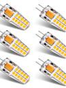 BRELONG® 6pcs 3W 300lm G4 Luminarias de LED  Duplo-Pin T 20 Contas LED SMD 2835 Branco Quente Branco 12V
