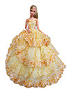 Party/Evening Dresses For Barbie Doll Gold Yellow Dress For Girl\'s Doll Toy