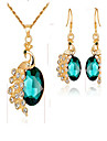 Women\'s Synthetic Emerald / Synthetic Diamond Jewelry Set - Gold Plated Animal Fashion Include Bridal Jewelry Sets Red / Green / Blue For Event / Party / Dailywear / Gift