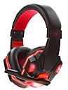 soyto SY830MV-R Bandana Com Fio Fones Dinamico Games Fone de ouvido Isolamento de ruido Estereo Com Microfone Com controle de volumeFone