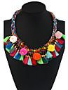 Femme Collier court /Ras-du-cou Pendentif de collier Colliers Declaration Forme Geometrique Materiaux Mixes Alliage de metal Fleur Boheme