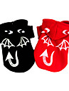 Dog Costume Coat Dog Clothes Halloween Angel & Devil Black Red