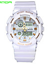 SANDA Men\'s Sport Watch Wrist watch Japanese Quartz Digital Water Resistant / Water Proof Dual Time Zones Alarm Rubber Band Black White