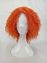 Syntetické paruky / Paruky ke kostýmům Afro / Kinky Curly Styl Bez krytky Paruka Blonďatá Oranžová Umělé vlasy Dámské Blonďatá Paruka Krátký hairjoy Cosplay paruka